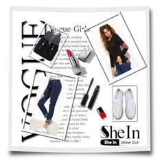 """""""3#SheIn"""" by hazreta-jahic ❤ liked on Polyvore featuring Burberry and Chanel"""