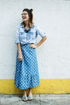 Maxi Skirt Outfits, Modest Outfits, Modest Fashion, Look Fashion, Girl Fashion, Fashion Outfits, Womens Fashion, Pretty Outfits, Beautiful Outfits