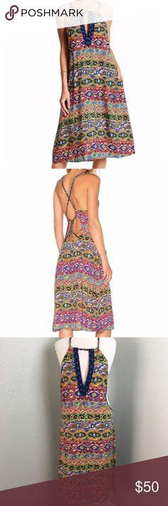 "Nanette Lepore Carnival Print Boho Dress Size: Medium Condition: New with tags  Measurements: 21"" across chest / 33"" long  XX18 Nanette Lepore Dresses Midi"