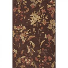 Momeni Transitions Floral Dark Brown Contemporary Rug - TS-05BRN