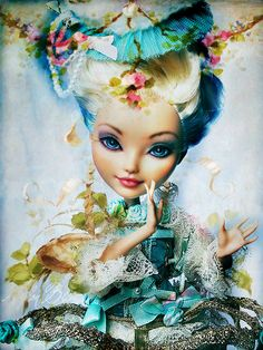 https://flic.kr/p/DdtYkH   Meet Miss Du Pompadour   This so perfect lady is new to the family. She arrives from USA some days ago. She is a Charming Darling Ever After High doll and she had been repainted just for me by artist Shemaeva (Luba Small) Charming Darling is a fabulous EAH model.