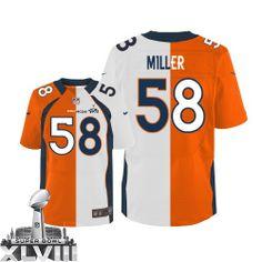 Von Miller Elite Jersey-80%OFF Nike Two Tone Von Miller Elite Jersey at Broncos Shop. (Elite Nike Men's Von Miller Team/Road Two Tone Super Bowl XLVIII Jersey) Denver Broncos #58 NFL Easy Returns.