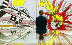 the Roy Lichtenstein's 'Whaam!', 1963. Pic taken at Tate Modern in London