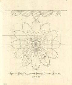 Tilevera Original drawings for Hearst Castle by architect Julia Morgan.