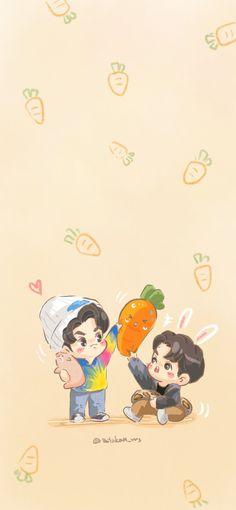 Asian Love, Cute Gay Couples, Happy Pills, Aesthetic Iphone Wallpaper, Totoro, Fan Art, Animation, Cartoon, Tao