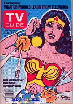 Wonder Woman on cover of TV Guide, January 29, 1977
