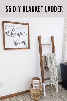 This DIY home decor project is everything we all love! The best part is the price tag. Even if you mess it up, it only cost Diy Home Decor Projects, Easy Projects, Weekend Projects, Craft Projects, Go And Love Yourself, Farmhouse Blankets, Hand Painted Wallpaper, Diy Blanket Ladder, Vintage Stool