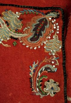 Scandinavian Embroidery, Dress Neck Designs, Lace Embroidery, Text Me, Folklore, Armoire, Stitching, Applique, Tapestry