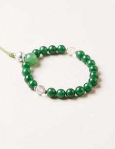 Green Jade Wrist Mala #new