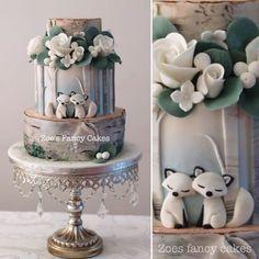 Gorgeous Cakes, Pretty Cakes, Cute Cakes, Amazing Cakes, Wedding Cake Prices, Wedding Cakes, Fondant Cakes, Cupcake Cakes, Fox Cake