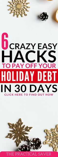 Got holiday debt on your hands? Learn the best ways to pay off debt in 6 ways in 30 days. My wife and I paid off debt in 30 days so many times. debt solutions l money hacks l budgeting tips l eating healthy on a budget l money saving tips. #moneytips #moneyhacks #holiday #debtpayoff #debts Click here to see full post.
