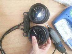 Installing a tachometer, was needed adjust the holes to fit where I wanted.