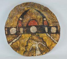 Unknown 'Painted Hide Shield (Jemez Pueblo)' Buffalo hide, paint, wood 20 1/2 inches