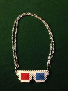 Dr Who 3D Glasses Perler Necklace