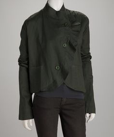 Take a look at this Avatar Olive Ruffle Military Jacket by Avatar Imports & Windhorse on @zulily today!
