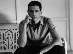 """He's a six-foot four, towering figure of twenty-two. He has an ego the size of his athletic prowess and besides his dark hair, claims the face of an Aryan idol.""     HARLOW excerpt description of the character, BRYCE. Dream actor to play Bryce? Wentworth Miller ♥ Watch the book trailer, listen to an excerpt from the audiobook & more on www.harlownovel.com - #book #film #love #wentworth"
