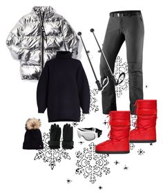"""""""ski day"""" by stylebyaren ❤ liked on Polyvore featuring Haglöfs, Moschino, Ivy Park, Acne Studios, Dsquared2, Bogner and Chanel"""