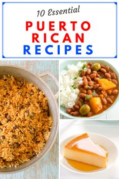 The Top 10 BEST Puerto Rican recipes! Easy, authentic dishes everyone should know! Rice, beans, flan, sofrito and more! Puerto Rican Flan, Puerto Rican Cuisine, Puerto Rican Recipes, New Recipes, Favorite Recipes, Amazing Recipes, Dinner Recipes, Jibarito Recipe, Puerto Rican Appetizers