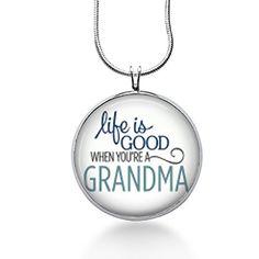 Grandma Necklace,nana Pendant, Life Is Good Charm,family,... http://www.amazon.com/dp/B011F8E2KO/ref=cm_sw_r_pi_dp_tdvsxb14S7996