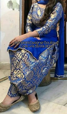 Customized Patiyala Suit Choice on fabric material, designing and sizes are available. For more details: 8883122233 Silk Kurti Designs, Patiala Suit Designs, Salwar Designs, Kurta Designs Women, Kurti Designs Party Wear, Punjabi Salwar Suits, Punjabi Suits Party Wear, Salwar Kameez, Anarkali Suits