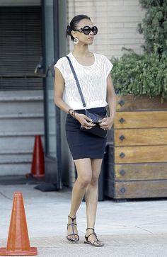 c19eeac8ed4 Zoe Saldana in Prada Baroque Sunglasses.  Like  The Strand Arcade on  Facebook for
