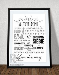 w tym domu motivational quote - nursery - poster - print - made to order - - no frame - free UK shipping Free Uk, Letter Board, Craft Supplies, Motivational Quotes, Nursery, Poster Prints, A3, Handmade Gifts, Frame