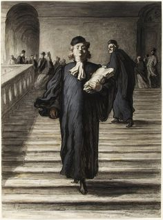 Honoré Daumier (1808-1879)  The Grand Staircase of the Palace of Justice, 1864.