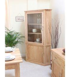 baumhaus mobel oak large corner display cabinet furniture home livingroomfurnitureuk london furniturestore furnitureshop