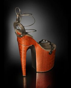 Omar Perez, a furniture makers, lends his hand to making sculptural stilettos that will knock your socks off. Mostly used as art objects or in photo shoots, these heels are over the top and barely wearable and yet there's something that draws me to them.