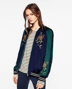 EMBROIDERED REVERSIBLE BOMBER JACKET-View all-OUTERWEAR-WOMAN   ZARA Germany