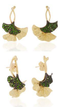 Gaia, Ear Piercings, 18k Gold, Sterling Silver, Diamond, Creative, Green, Earrings, How To Make