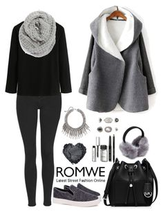 """Romwe 2"" by amra-f ❤ liked on Polyvore featuring Topshop, Halogen, MICHAEL Michael Kors, Bobbi Brown Cosmetics, women's clothing, women, female, woman, misses and juniors"