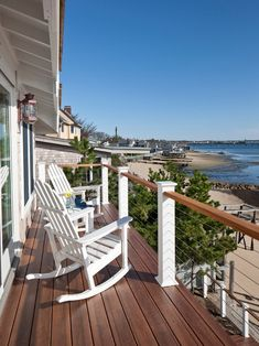 Cable Deck Railing might be cheaper option to look into. like this look too Wood Deck Railing, Deck Railing Design, Cable Railing, Balcony Railing, Wood Handrail, Deck Stairs, Railing Ideas, Beach House Deck, House With Porch