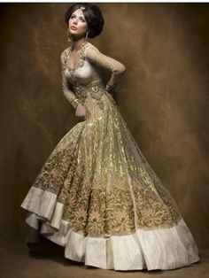 Gold Indian outfit so beautiful