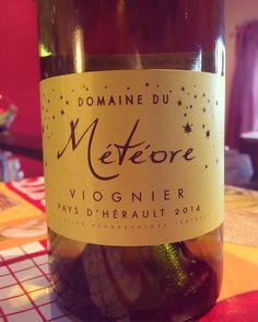 Domaine du Météore : Viognier 2014 ... Quelle acidité ! Magnifique équilibre, vin droit et souple, et belle  longueur ... Bravo et merci ! #domainedumeteore #herault #viognier #languedoc #winetasting #winelover