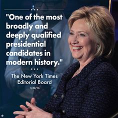 That's right, The New York Times! #ImWithHer
