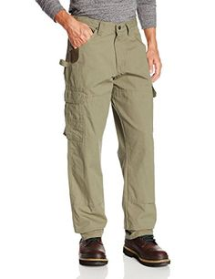 a4441256 Wrangler 3W060BR. Riggs Relaxed Fit Ranger Work Pants With Ripstop Fabric.  Casual Pants,
