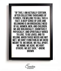 We're on a mission to unite the world by teaching wisdom and transformational ideas that our education system ignores. Start living your best life now. Words Quotes, Wise Words, Life Quotes, Sayings, Friend Quotes, Berne Brown, Favorite Quotes, Best Quotes, Brene Brown Quotes