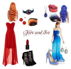 Fire and Ice by transformerlover on Polyvore featuring polyvore, fashion, style, Jump, Aquazzura, Armenta, Blue Nile, Charlotte Tilbury and clothing
