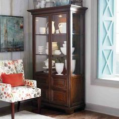 Breathtaking Brown Wooden Color Kitchen Corner Curio Cabinet Come With Double Glass Door Kitchen Corner Curio Cabinet And Three Display Shelves. Extraordinary Design Ideas Of Kitchen Corner Curio Cabinets. Wall Cabinets Living Room, Ikea Wall Cabinets, Ikea Living Room, Bar Cabinets, Medicine Cabinets, Living Spaces, Parks Furniture, Corner Furniture, Sideboard Furniture