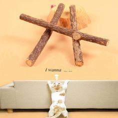 1Pc Polygonum Cat Stick Chew Toy Dental Health Kitten Catnip Stick Pet Cat Treat Snacks Wood Sticks NEW