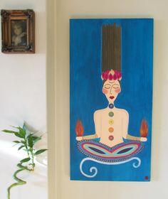 Acyrlic Painting-Yoga girl , Namaste