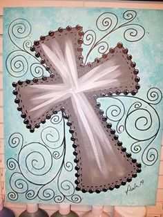 A Local Canvas Painting Party in Alabama. Love it. | Painting | Pinterest | Painting Parties, Canvas Paintings and Crosses