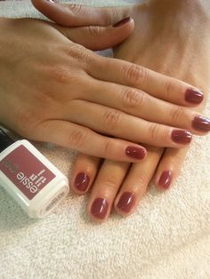 """My current fav!    Love Essie!!  Vitamin infused essie """"Sweater Girl"""" Gel Nail Color on manicure by Mai"""
