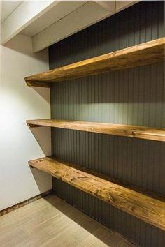Easy DIY Wood Storage Shelves tutorial