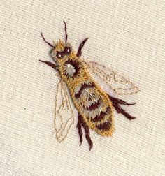 ♒ Enchanting Embroidery ♒   embroidered bee