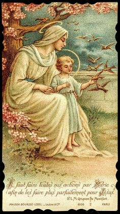 Jesus and Mary with nature