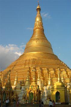 Myanmar's Shwedagon Pagoda, the most sacred buddhist pagoda in Myanmar (Burma)