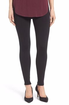 Halogen Seamed Leggings Black Size Extra Large $49 FTC #4213