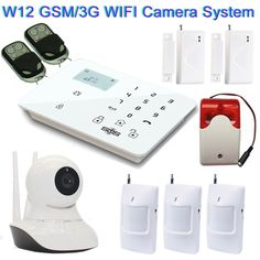 183.83$  Buy now - http://aliy9v.worldwells.pw/go.php?t=32670149287 - Home Security Camera System GSM/3G IP Camera Wireless SMS Camera With GSM Alarm System Siren Strobe PIR Motion Control W12D 183.83$